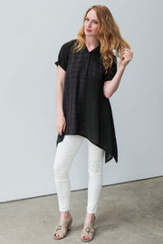 G&F Brooke Cotton Blend Tunic Shirt - Breathable Naturals | Glam & Fame Clothing