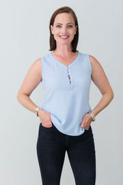 Cassidy Button Blouse - Breathable Naturals | Glam & Fame Clothing