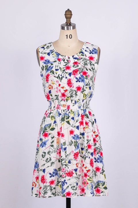 G&F Cora Summer Dress in Country Floral Print - Glam & Fame | Breathable Naturals