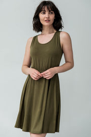 Daisy Jersey Knit Dress - Breathable Naturals | Glam & Fame Clothing