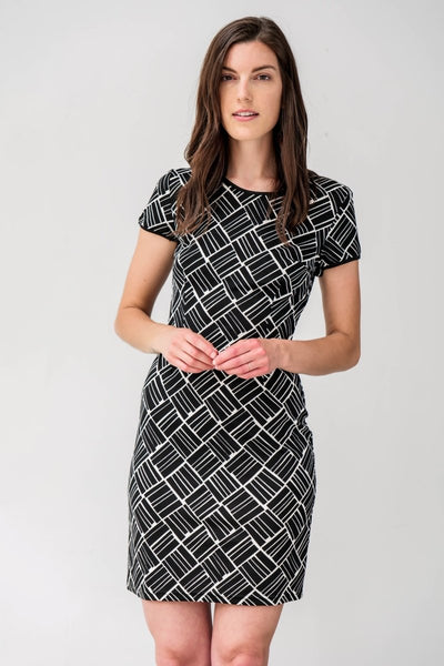 G&F Diane Striped Knit Dress - Breathable Naturals | Glam & Fame Clothing