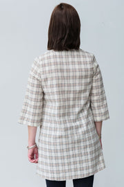 G&F Doris Cotton Long Plaid Shirt - Breathable Naturals | Glam & Fame Clothing