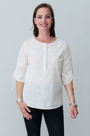 Evie Cotton Top - Breathable Naturals | Glam & Fame Clothing