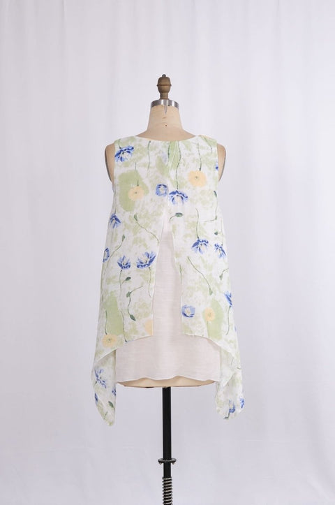 G&F Faith Tunic in Floral Print - Glam & Fame | Breathable Naturals
