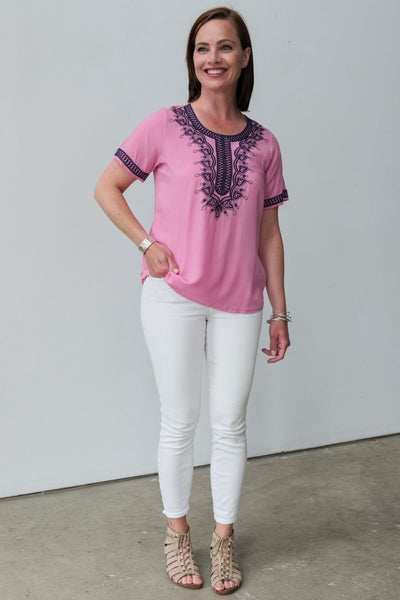 G&F Genette Top - Breathable Naturals | Glam & Fame Clothing