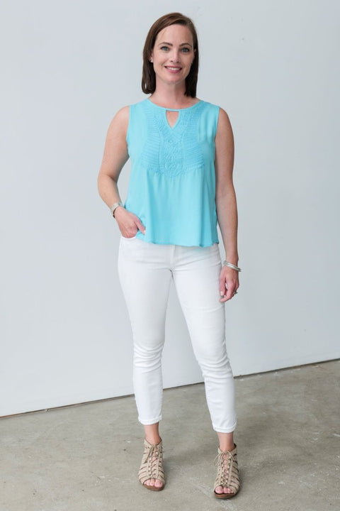 G&F Gilian Top - Breathable Naturals | Glam & Fame Clothing