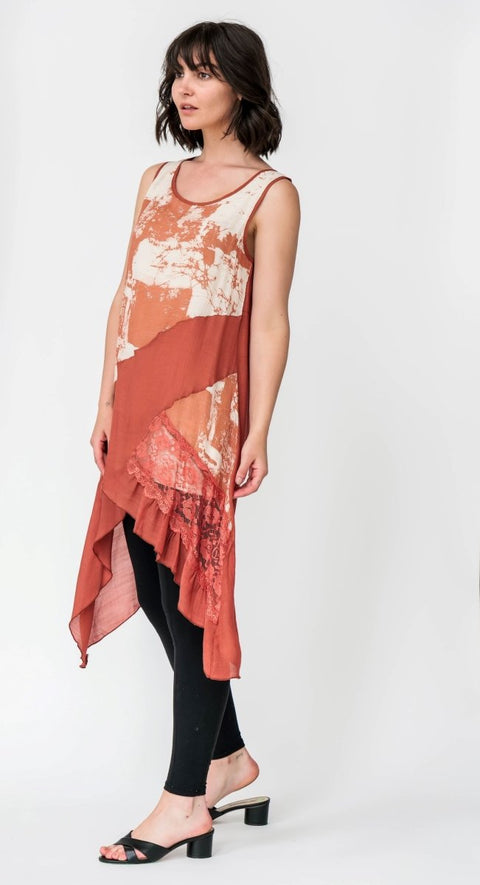 G&F Ginny Tunic Dress - Breathable Naturals | Glam & Fame Clothing