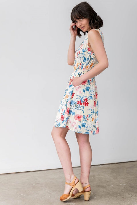 G&F Heather Cotton Blend Summer Dress - Breathable Naturals | Glam & Fame Clothing