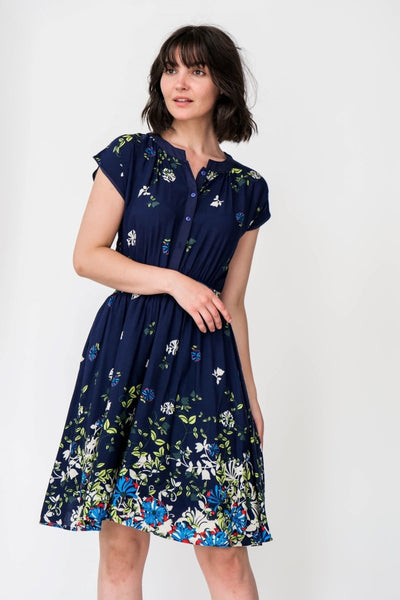 G&F Ingrid Cotton Blend Summer Dress - Breathable Naturals | Glam & Fame Clothing