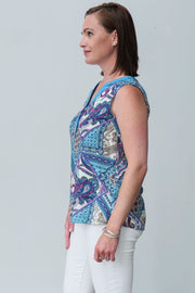 G&F Jacqueline Cotton Blend Top - Breathable Naturals | Glam & Fame Clothing