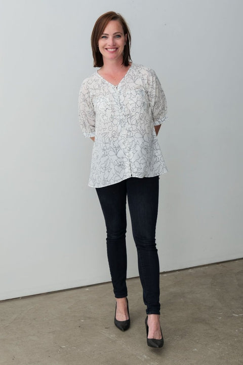 G&F Kate Floral Blouse - Breathable Naturals | Glam & Fame Clothing