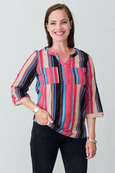 Lilou Cotton Blend Shirt - Breathable Naturals | Glam & Fame Clothing