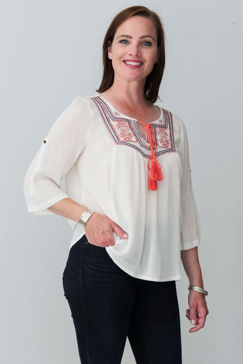 G&F Madison Top - Breathable Naturals | Glam & Fame Clothing