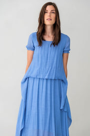 G&F Marie Dress with Cloud Layers - Breathable Naturals | Glam & Fame Clothing