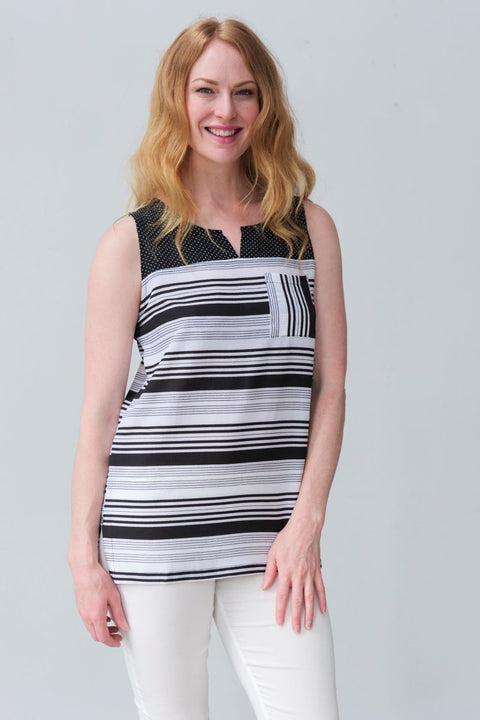 G&F Marion Striped Top - Breathable Naturals | Glam & Fame Clothing