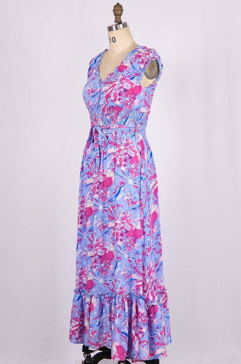 Miranda Cotton Blend Maxi Dress - Glam & Fame | Breathable Naturals