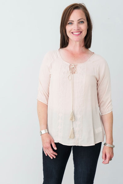 G&F Natalie Top - Breathable Naturals | Glam & Fame Clothing