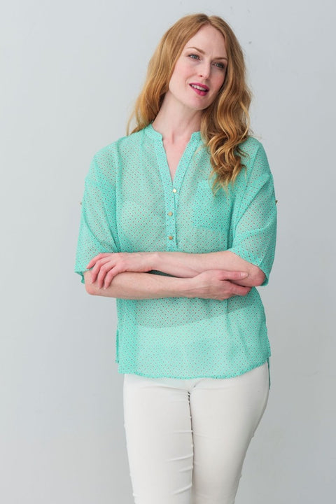 G&F Natalya Shirt - Breathable Naturals | Glam & Fame Clothing