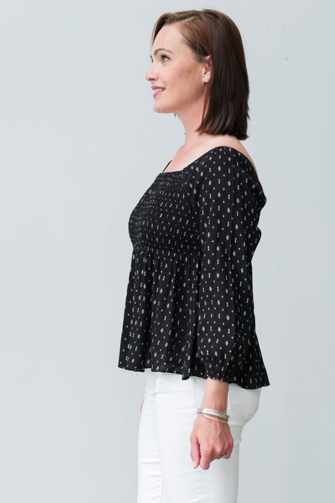 G&F Nolita Cotton Blend Top - Breathable Naturals | Glam & Fame Clothing