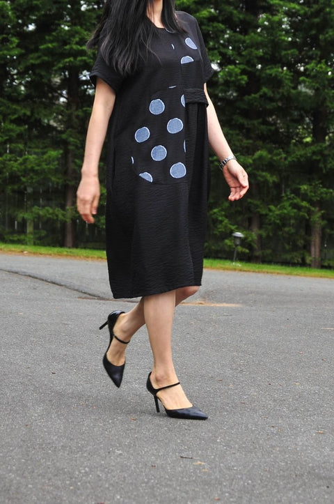 G&F Piper Polka Dot Dress - Glam & Fame | Breathable Naturals