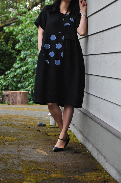 Piper Midi Cotton Blend Dress - Glam & Fame | Breathable Naturals