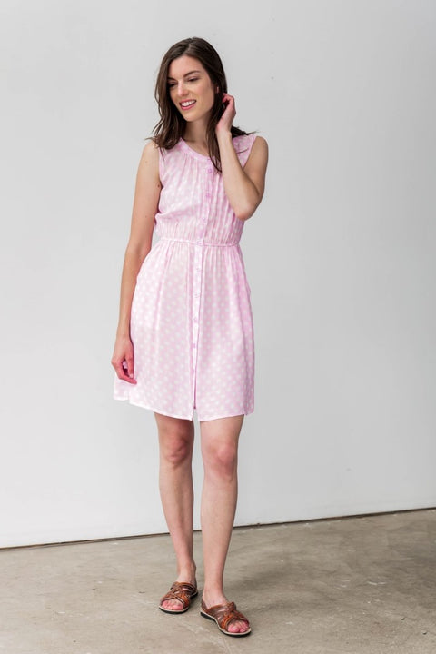 G&F Paige Cotton Blend Summer Dress - Breathable Naturals | Glam & Fame Clothing