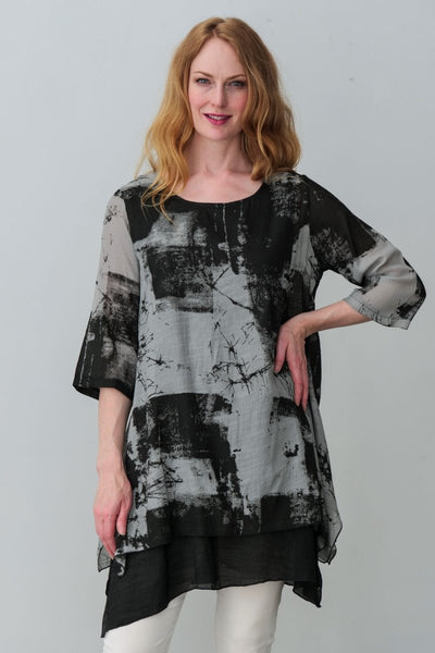 G&F Patricia Cotton Blend Tunic - Breathable Naturals | Glam & Fame Clothing