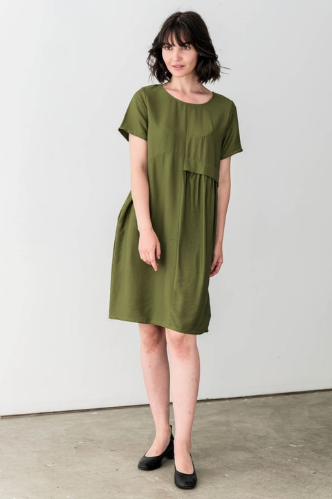 Piper Midi Cotton Blend Dress - Breathable Naturals | Glam & Fame Clothing
