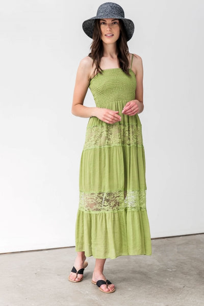 G&F Ramy Cotton Blend Boho-Chic Summer Dress - Breathable Naturals | Glam & Fame Clothing