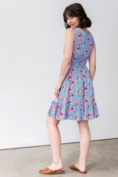G&F Rebecca Cotton Blend Summer Dress - Breathable Naturals | Glam & Fame Clothing