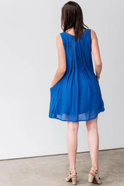G&F Rosalie Cotton Blend Dress - Breathable Naturals | Glam & Fame Clothing