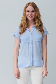 G&F Sanya Pocket Shirt with Cap Sleeves - Breathable Naturals | Glam & Fame Clothing