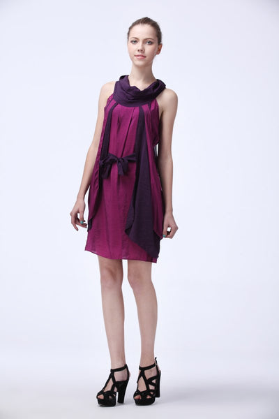 G&F Sky Dress in Purple Peony - Glam & Fame | Breathable Naturals