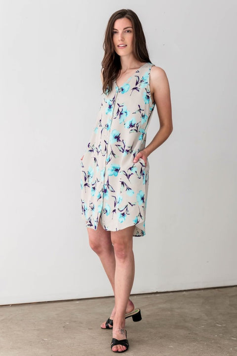 G&F Tara Swing Dress in Floral Print - Breathable Naturals | Glam & Fame Clothing