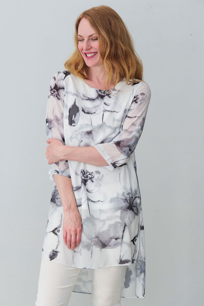 G&F Tivoli Tunic Dress in Floral Print - Breathable Naturals | Glam & Fame Clothing