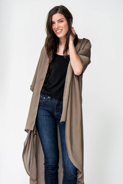 G&F Tristan Kimono - Breathable Naturals | Glam & Fame Clothing