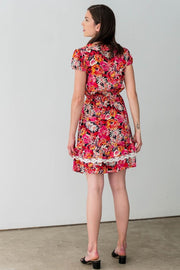 G&F Veronica Summer Dress in Floral and Lace - Breathable Naturals | Glam & Fame Clothing