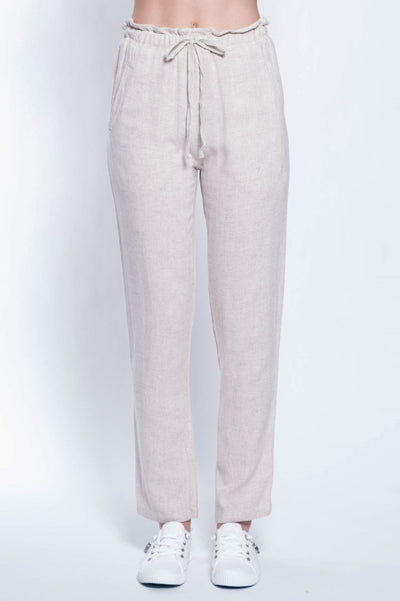 Glenn Linen Blend Pants - Breathable Naturals | Glam & Fame Clothing
