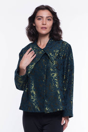 Grace Jacquard Jacket - Breathable Naturals | Glam & Fame Clothing