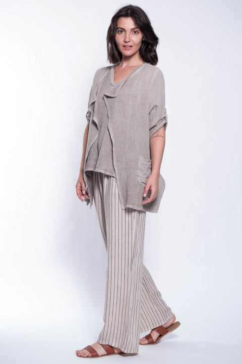ITALIAN LINEN JACKET - Breathable Naturals | Glam & Fame Clothing