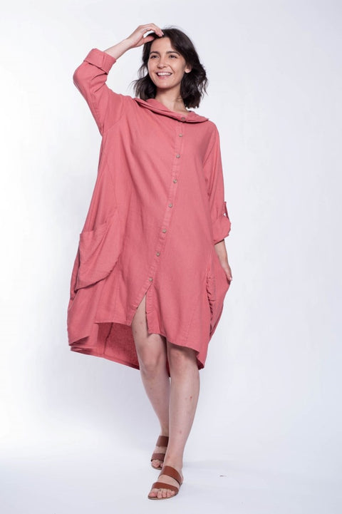 ITALIAN LINEN LONG SHIRT - Breathable Naturals | Glam & Fame Clothing