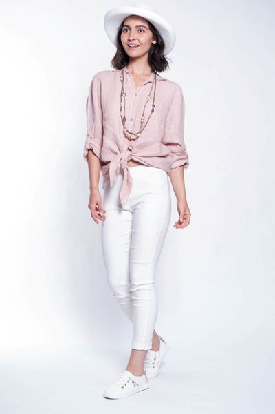 ITALIAN LINEN SHIRT - Breathable Naturals | Glam & Fame Clothing