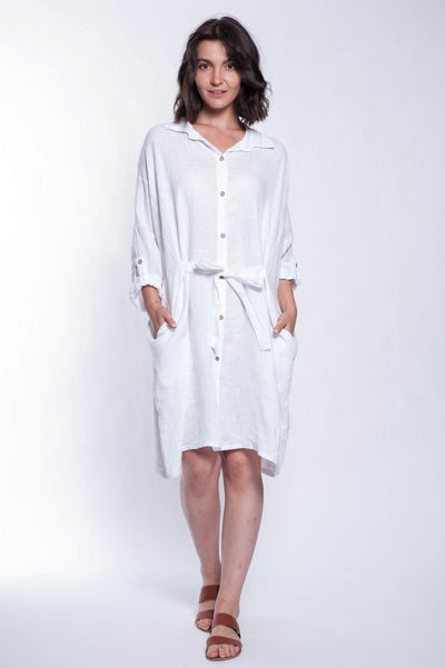 ITALIAN LINEN TUNIC - Breathable Naturals | Glam & Fame Clothing