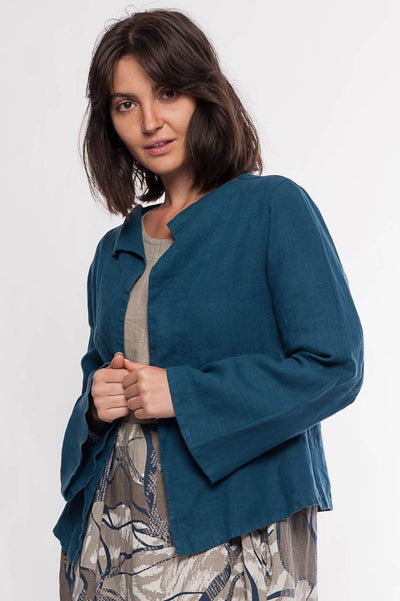 Eleni Linen Jacket - Breathable Naturals | Glam & Fame Clothing