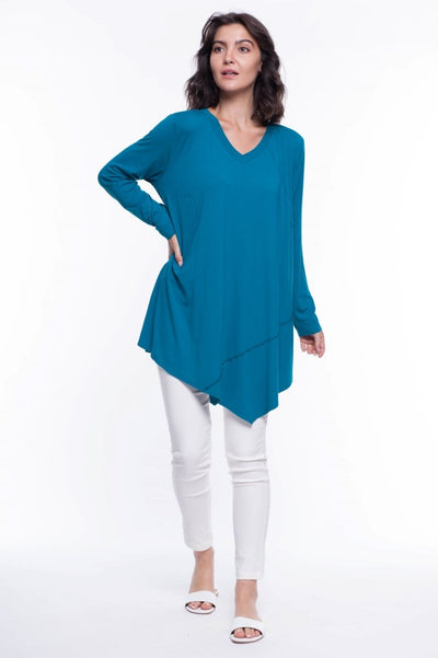 Jersey Knit Asymmetrical Top - Breathable Naturals | Glam & Fame Clothing