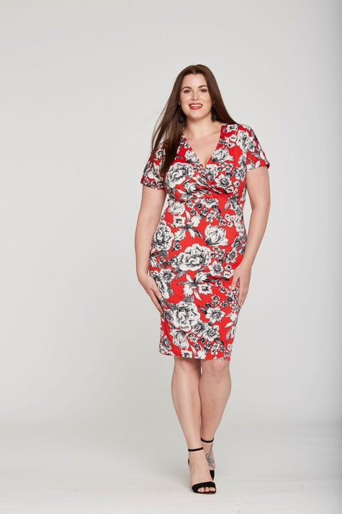 Cache Coeur Dress - Glam & Fame | Breathable Naturals