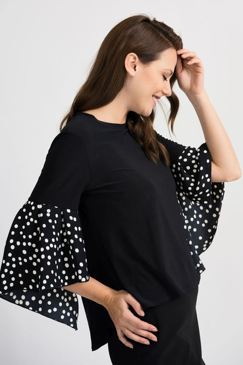 Joseph Ribkoff Top with Flare Sleeve - Glam & Fame | Breathable Naturals
