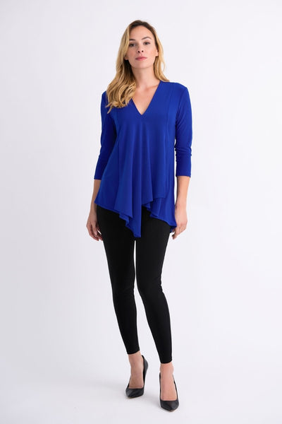 Joseph Ribkoff V-Neck 3 / 4 Sleeve Tunic - Glam & Fame | Breathable Naturals