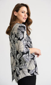 Joseph Ribkoff Tunic with Zipper - Glam & Fame | Breathable Naturals