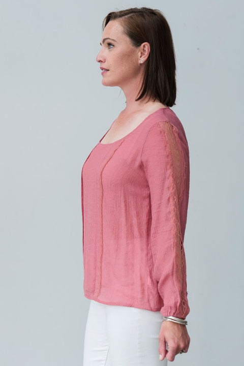 KEIRA BLOUSE - Breathable Naturals | Glam & Fame Clothing